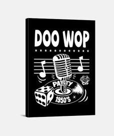 retro doo wop musique vintage des années 1950 rockabilly USA 50s impression sur toile