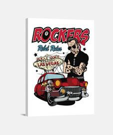 rétro rockers vintage rockabilly musique USA rock and roll les vegas impression sur toile