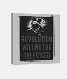 Revolution Will Not BeTelevised (Lienzo Cuadrado)