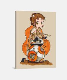 Rey y BB-8