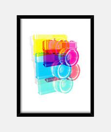 rgb camera pop # impresión / decoración de interiores
