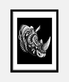rinoceronte adornado
