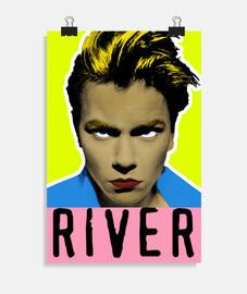 River Phoenix Retrato Pop Art