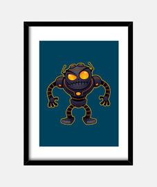 robot enojado