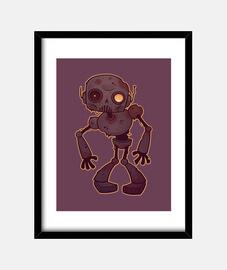 robot zombie oxidado
