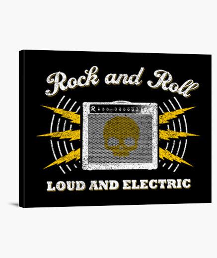 Tableau rock and roll vintage fort and électrique
