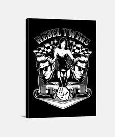 rock rockers rockers pinup vintage rock and roll hotrod rebel impression sur toile