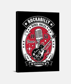 rockabilly guitares vintage rock and roll USA musique rock 1958 impression sur toile