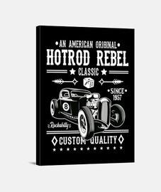 rockabilly hot rod vintage 1957 rock and roll années 1950 rockers impression sur toile