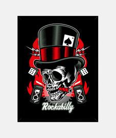 rockabilly music skull retro rockers usa rock and roll painting
