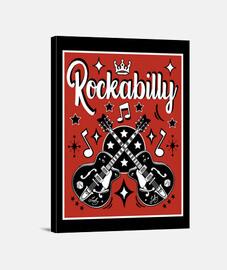 rockabilly musique guitares retro USA rock and roll rockers impression sur toile