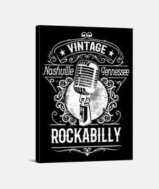 rockabilly musique nashville tennessee vintage rétro rock n roll rockers USA impression sur toile
