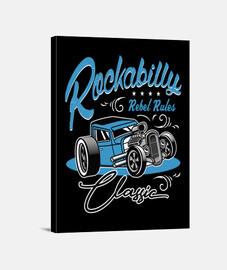 rockabilly musique retro hotrod USA rockers rock and roll impression sur toile