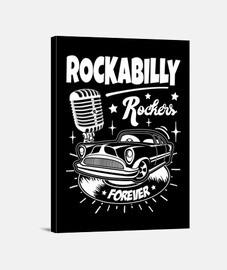 rockabilly musique rockers retro USA rock and roll impression sur toile