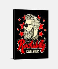 rockabilly musique rockers vintage USA rock and roll impression sur toile