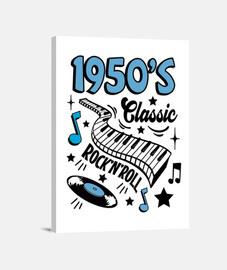 rockabilly musique vintage des années 1950 USA rock and roll impression sur toile
