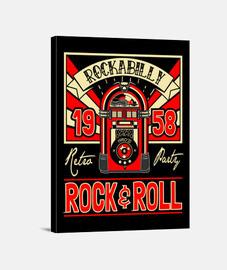 rockabilly musique vintage rock USA rockers rock and roll impression sur toile