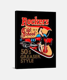 rockabilly pinup rockers vintage USA rock impression sur toile