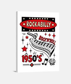 rockabilly retro des années 1950 rockers USA musique impression sur toile