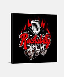 rockabilly vintage rock and roll musique rock rétro USA rockers impression sur toile
