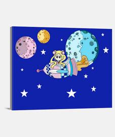 Sailor Moon en Lienzo Horizontal 4:3 - (40 x 30 cm)