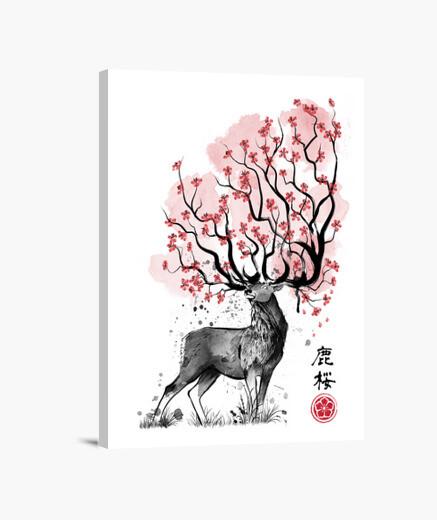 Lienzo Sakura Deer
