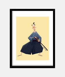 samurai - encadrée peinture