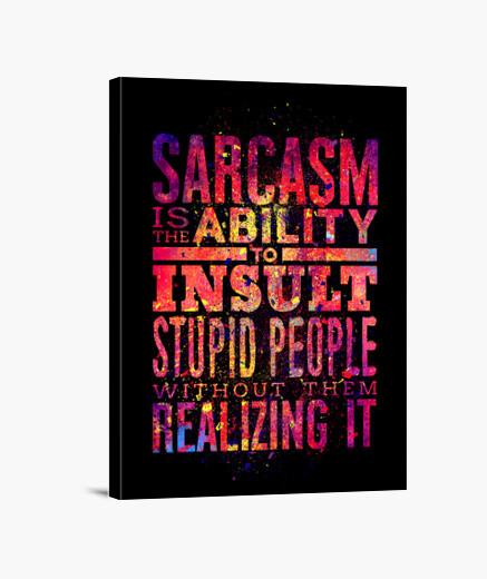 Lienzo Sarcasm