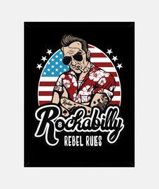 scatola rockero vintage musica rockabilly rocker biker vintage rock usa rock and roll rocker