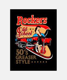 scatola vintage pin up music rockabilly rockers vintage rock and roll usa ingrassatore anni '50