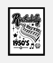scatola vintage rockabilly anni '50 rocker vintage rock and roll usa musica rock calzino hop dan