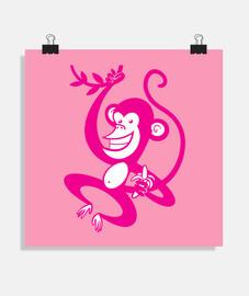 scimmia rosa