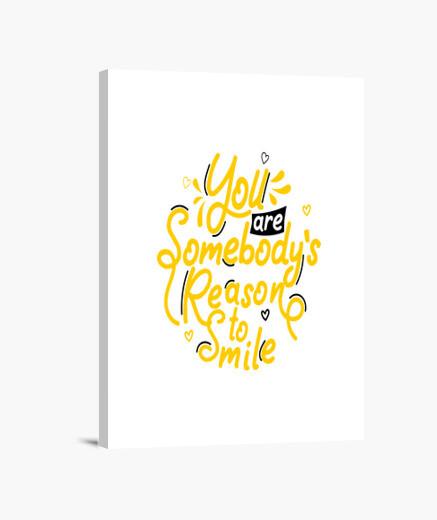 Stampa su tela sei la ragione del sorriso...