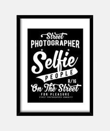 Selfie people Cuadro con marco vertical 3:4 (30 x 40 cm)