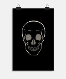 semplice teschio - per sfondo scuro
