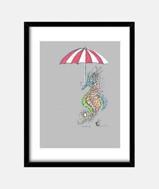 Señor con paraguas.