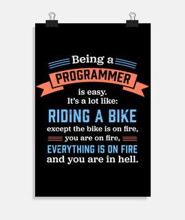 ser un programador divertido regalo de