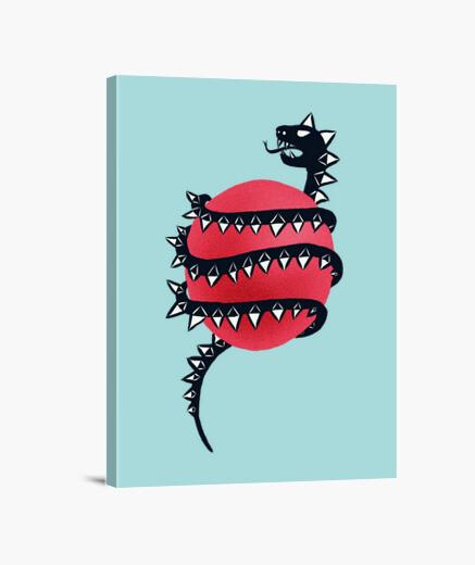 Lienzo serpiente de dragón malvada
