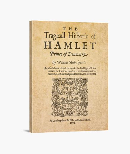 Lienzo Shakespeare, Hamlet 1603 (canvas)