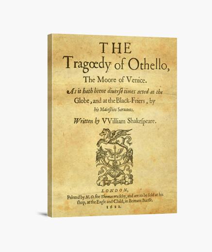 Lienzo Shakespeare, Othello 1622 (canvas)