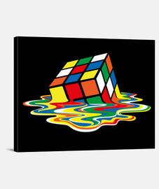sheldon cooper - rubik cube melted