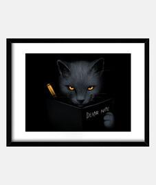 Shinigami cat print