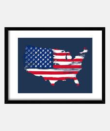 silhouette américaine