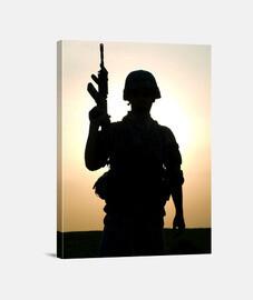 Silueta soldado