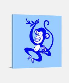 singe bleu