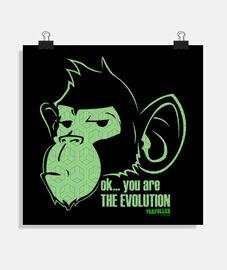 singe évolution vert