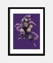 Skye Muerte Púrpura (30 x 40 cm)