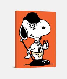 Snoopy Naranja Mecánica Lienzo