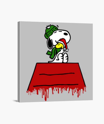 Lienzo Snoopy Winter