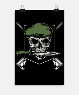 soldado cráneo ejército emblema